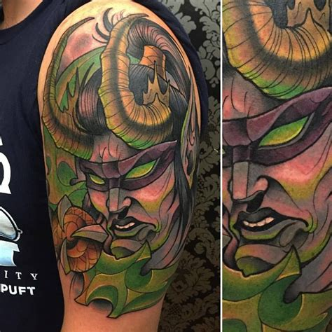 illidan tattoo awesome illidan david tevenal david tevenal