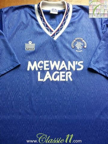 Glasgow Rangers Away 1987 1990 Jersey Original 131 best images about soccer jerseys on seasons spain and real madrid