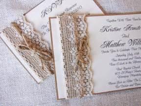 handmade rustic lace wedding invitations ipunya