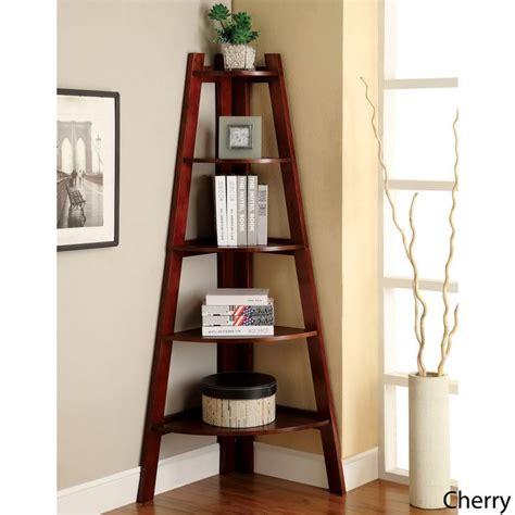 corner ladder bookcase furniture of america 5 tier corner ladder display