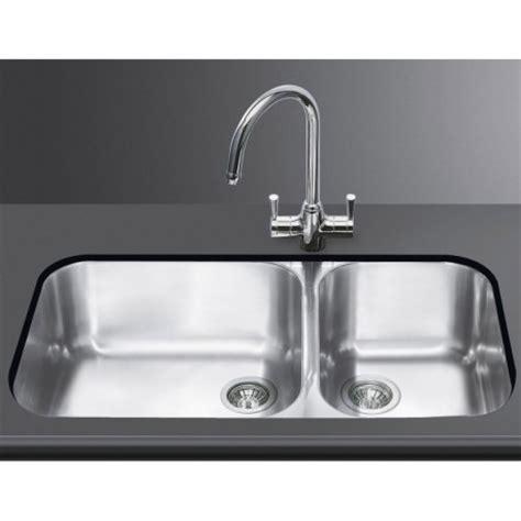 lavastoviglie sotto lavello lavello smeg sottotop um4530 2 vasche acciaio inox smeg