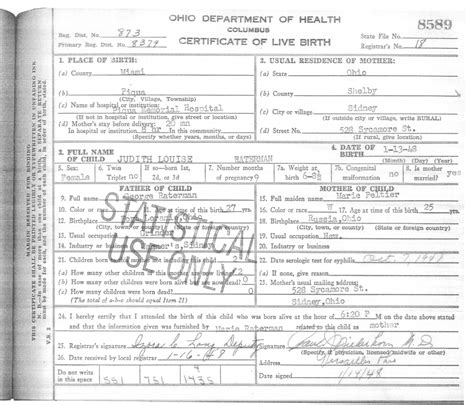 Ohio Vital Records Birth Certificate Ohio Dept Of Health Vital Records Us Health