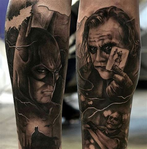 tattoo batman face batman and joker tattoos