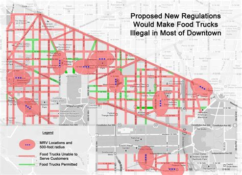 washington dc limits map proposed dc food truck regs would limit customer choice