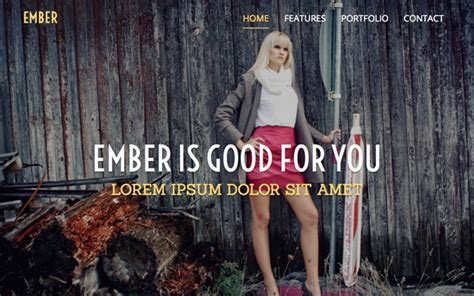 bootstrap themes ember ember one page responsive template portfolios