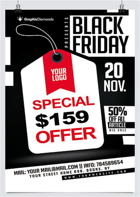 photoshop template offer best business flyer templates for black friday promotion