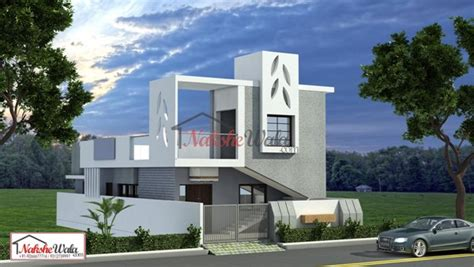 Floor Plans 2000 Square Feet single storey elevation 3d front view for single floor