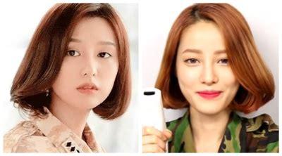 Model Rambut Jidat Jenong by Cantiknya Model Rambut Selebriti Di Drama Korea