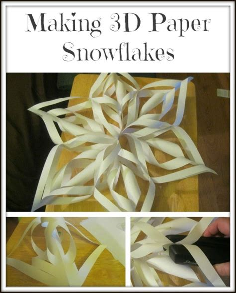 Make Fancy Paper Snowflakes - 3d paper snowflakes thriftyfun
