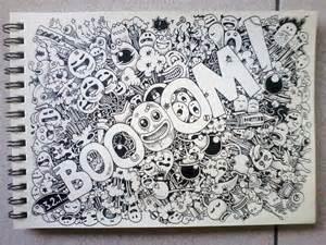 boooom doodles by kerbyrosanes on deviantart