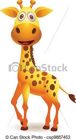 imagenes de jirafas bebes en caricatura vectores de jirafa caricatura vector ilustraci 243 n de