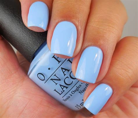 light color nail polish opi the i s have it a light blue creme nail shimmer