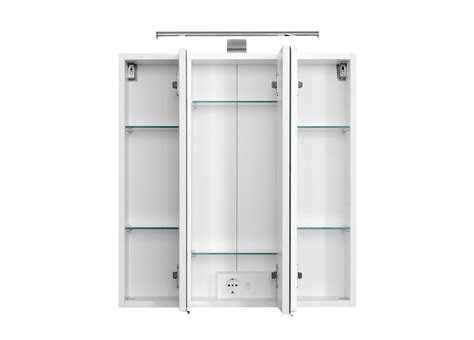 spiegelschrank 58 cm breit bad spiegelschrank 3 t 252 rig mit led aufbauleuchte 60