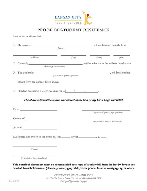 Proof Of Address Letter From Parent 2018 proof of residency letter fillable printable pdf