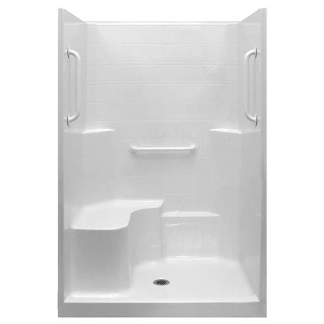 3 Shower Stall With Seat Ultimate 48x37 One Low Threshold Shower Stall Kit