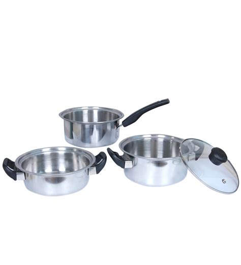 kitchen cookware induction khaitan induction cookware set 4pc by khaitan cookware sets kitchen pepperfry product