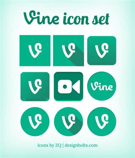 лоза коллекция икон в зеленый цвет скачать вектор