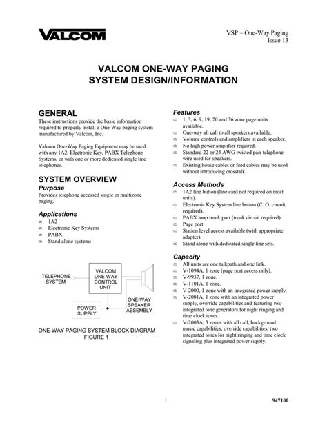 valcom paging system wiring diagram valcom paging speakers