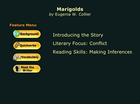 themes of the story marigolds marigolds