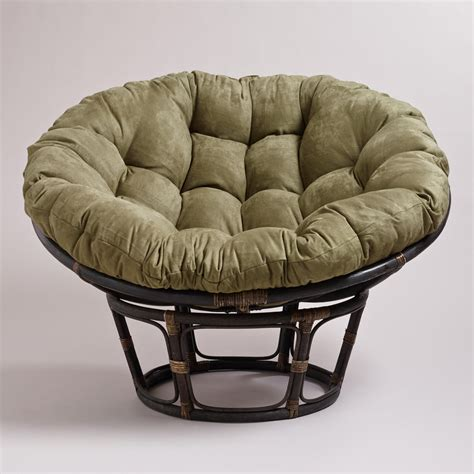 Papasan Chair by Olive Microsuede Papasan Chair Cushion From Cost Plus World