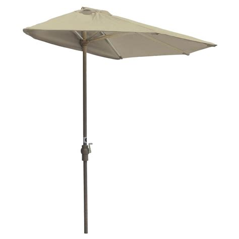 Gray Patio Umbrella by Hton Bay Statesville 9 Ft Steel Crank And Tilt