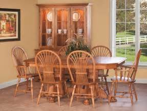 oak kitchen furniture amish country pedestal dining set table chair cottage wood