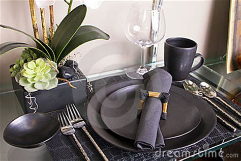 contemporary setting elegant modern table place setting royalty free stock