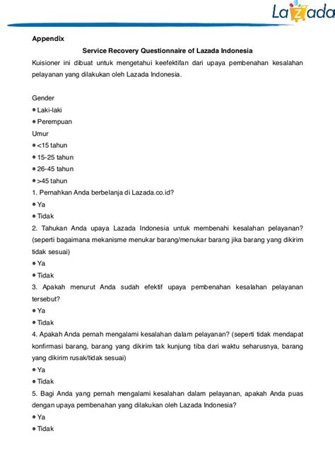 Service Recovery Letter Exles The Effect Of Service Recovery In Lazada Indonesia Towards Customer S