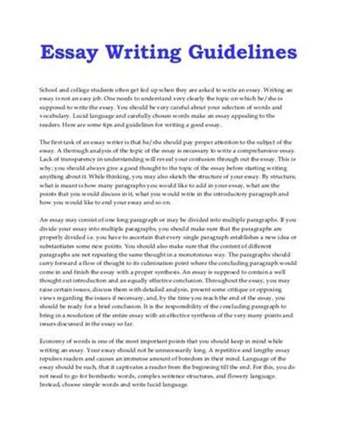 College Essay Length Guidelines by Essay Writing Guidelines Ehow
