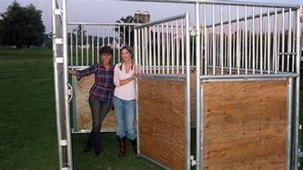 Instant Barns Com Portable Horse Stalls Sunset Valley Metal Craft