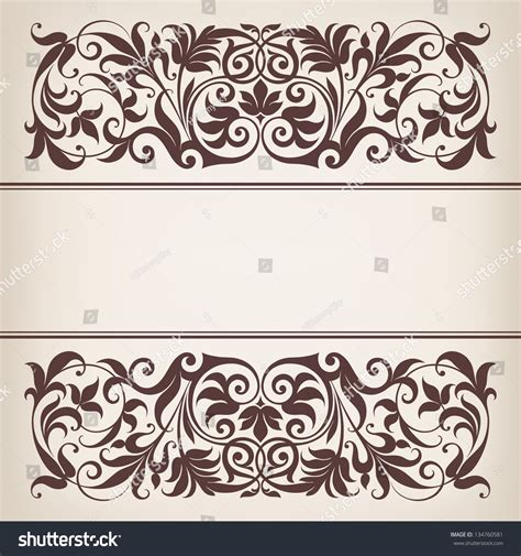 filigree pattern frame vector vintage ornate border frame filigree with retro