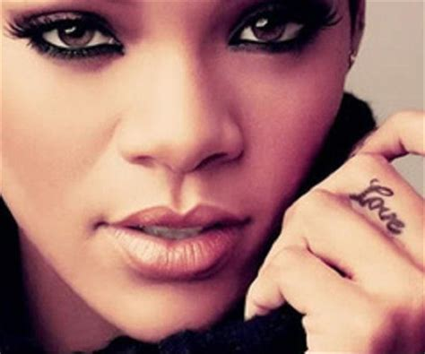 middle finger tattoos rihanna tattoos middle finger models designs