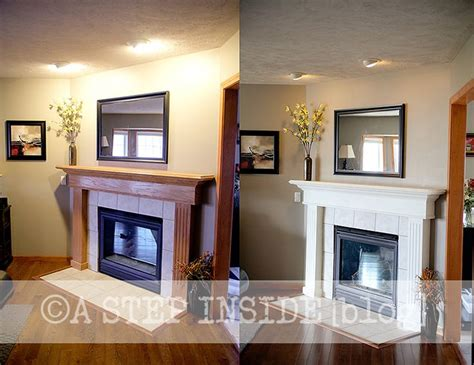 Painted Fireplaces Before And After by Painted Fireplaces Before And After Fireplace Mantel