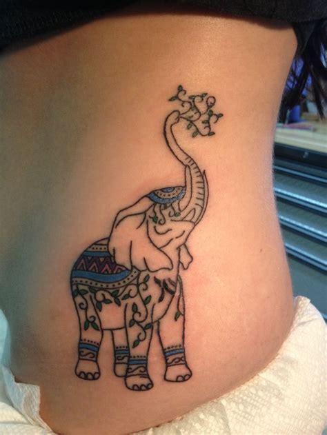 elephant tattoo trunk up 37 elephant tattoos on side rib