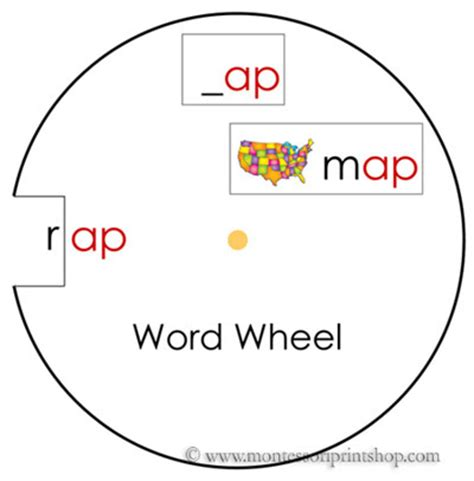 word wheel template phonics word wheels image search results