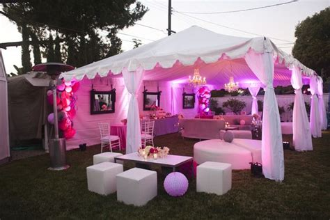 rent a backyard for a party the tent rental and lighting transorms this backyard to a