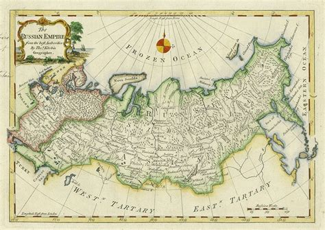 russian empire map and antique prints and maps russian empire map 1773