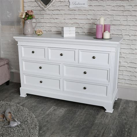 large white 7 drawer chest of drawers daventry white