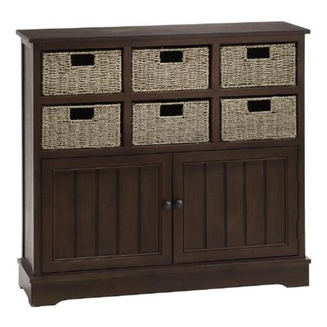 walnut 6 basket storage cabinet tree shops
