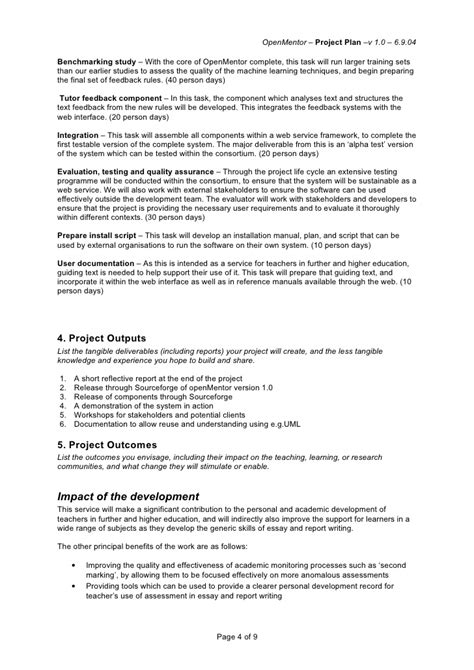 template for cognitive walk through report jisc project plan template