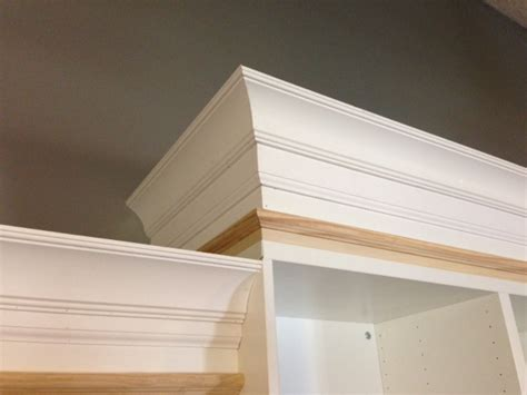 bookcase with crown molding idea for how to elevate current bookshelves tutorial on