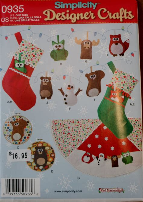 simplicity pattern for christmas stocking simplicity 0935 christmas stocking ornament tree skirt