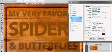 photoshop cs5 filters tutorial how to use the bevel and emboss filters in adobe photoshop