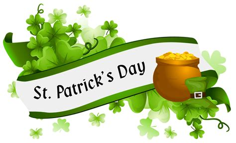 Dijamin Clear St Banner Happy st s day banner transparent png stickpng