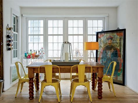 eclectic  chic   dining room