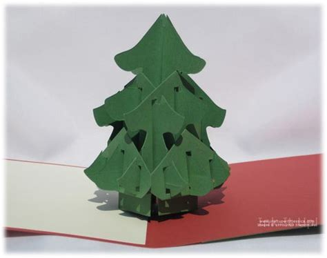 christmas tree pop up card ink it up with jessica card