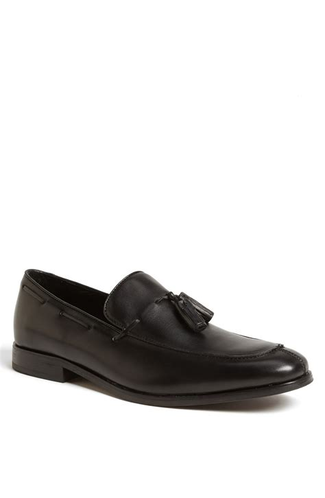 tassel loafer florsheim jet tassel loafer in black for lyst