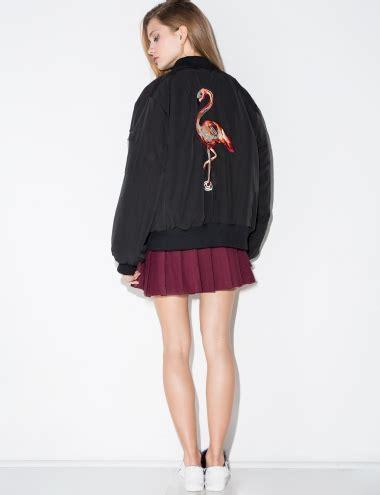 Jaket Bomber Flamingo By Fwr Shop flamingo bomber jacket embroidered bomber jacket