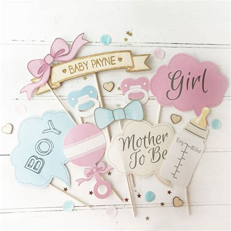Baby Shower baby shower photo booth props by postbox