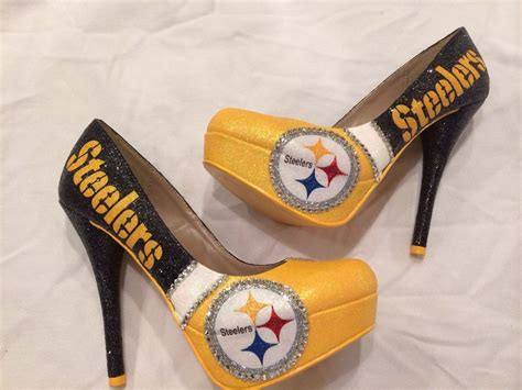 steelers high heels custom size 8 high heels shoes pittsburg steelers ebay